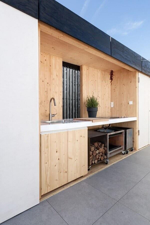 modelo de cozinha externa de marcenaria Foto Homedit