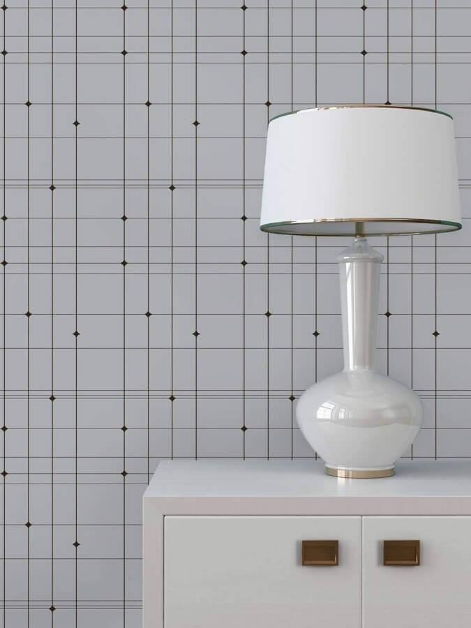 papel de parede delicado com estampa geométrica Foto Pinterest