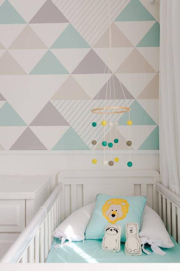 papel de parede delicado para quarto de bebê Foto Pinterest