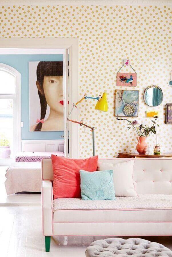 papel de parede delicado para sala colorida Foto Home Fashion Trend