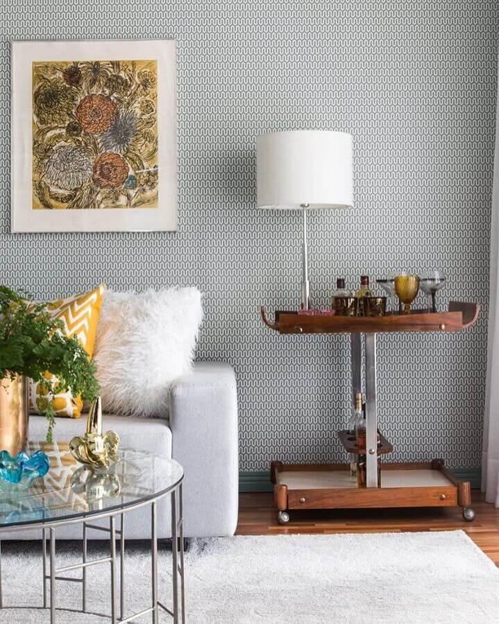 papel de parede delicado para sala de estar cinza Foto Pinterest