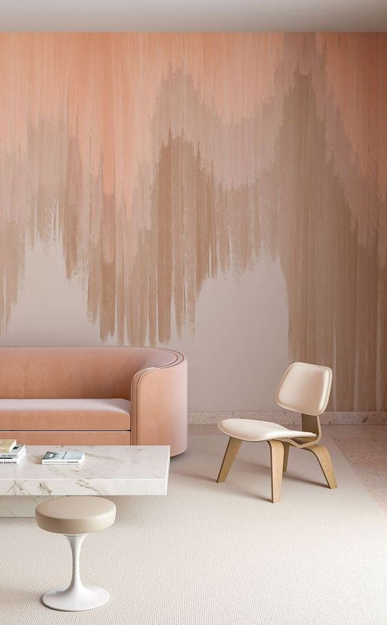 Papel de parede monocromático rosa