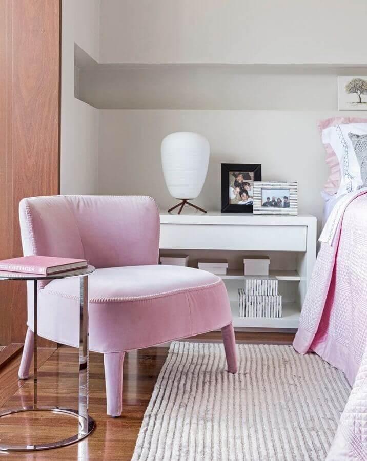poltrona moderna para quarto branco Foto Pinterest