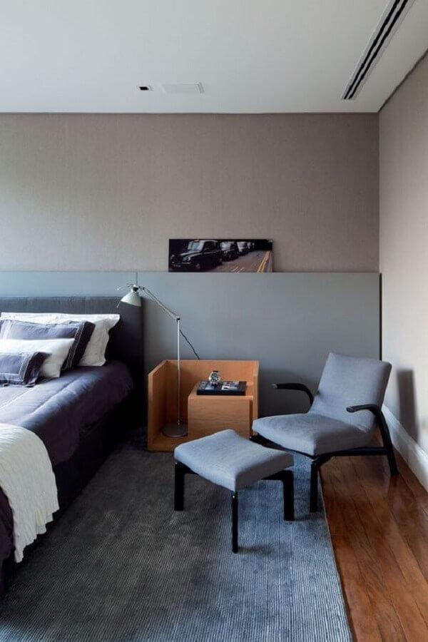 poltrona moderna para quarto cinza planejado Foto Home Fashion Trend