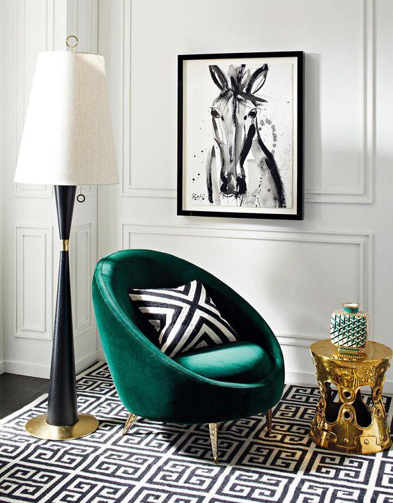 . Sala de estar moderna com poltrona moderna