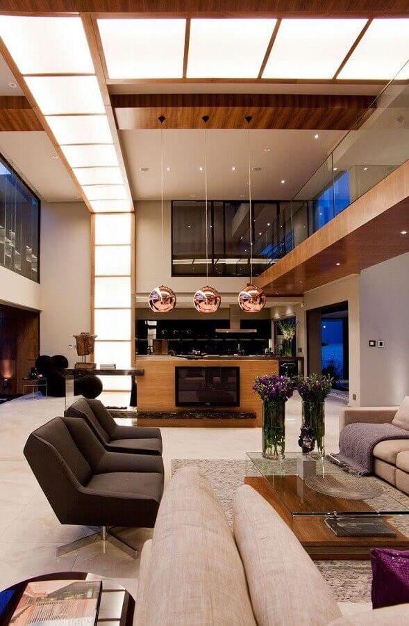 poltronas modernas e confortáveis para sala ampla e sofisticada Foto My Fancy House