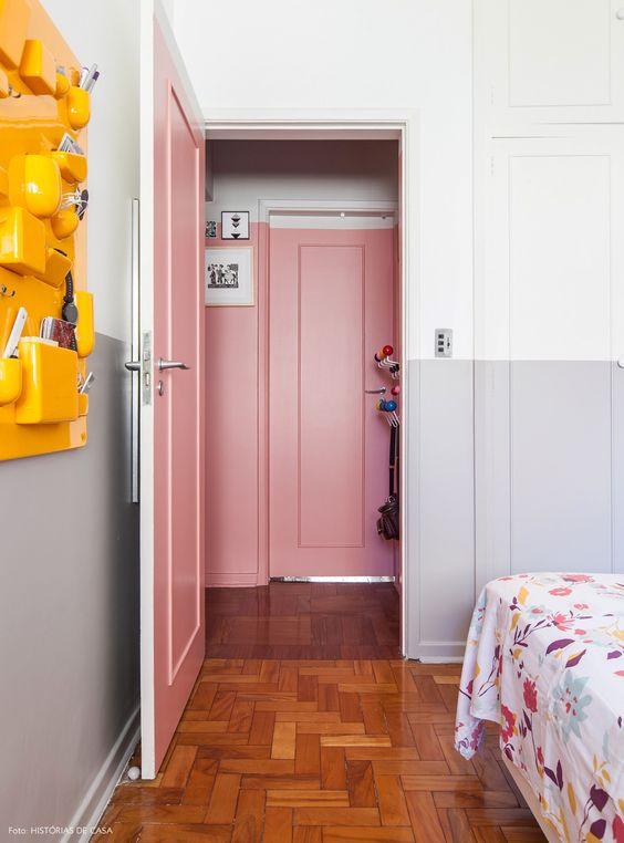 Porta para quarto de madeira