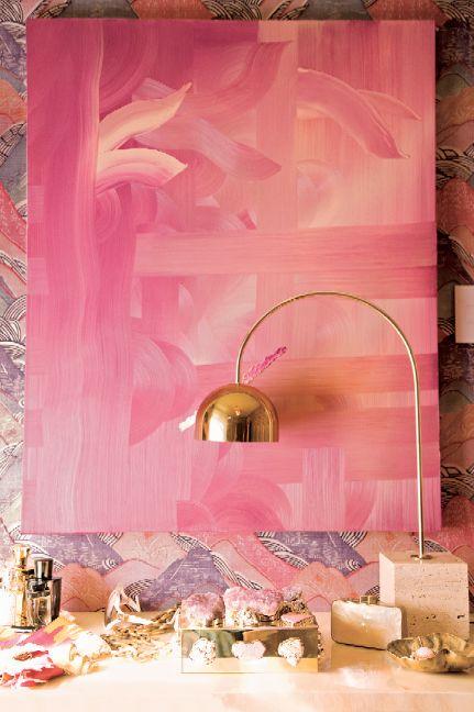 Quadro monocromático rosa