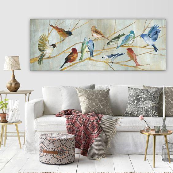 Beija flor nos quadros clássicos para sala de estar