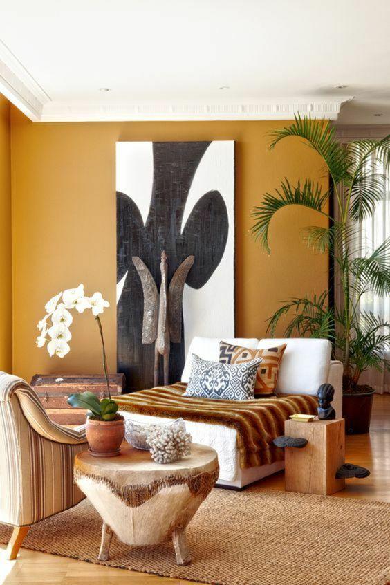 Quadros clássicos para sala de estar confortável