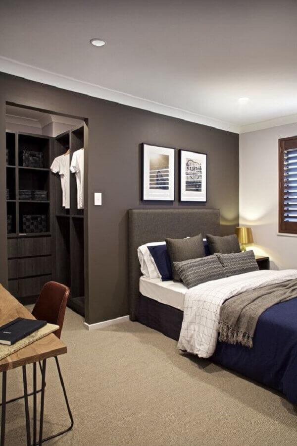 quadros decorativos para quarto masculino cinza clean  Foto Clarendon Homes QLD