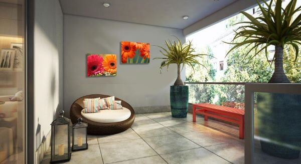 Quadros para varanda colorido