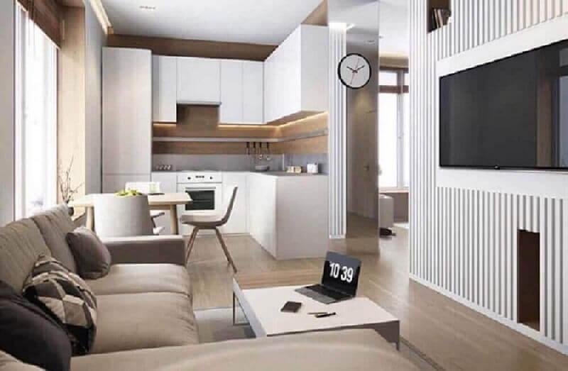sala e cozinha integrada para casa conceito aberto Foto Pinterest