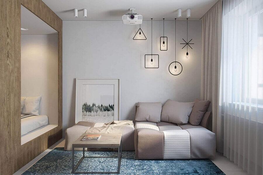 sofá pequeno moderno para sala com estilo contemporâneo Foto DIKA Estudio