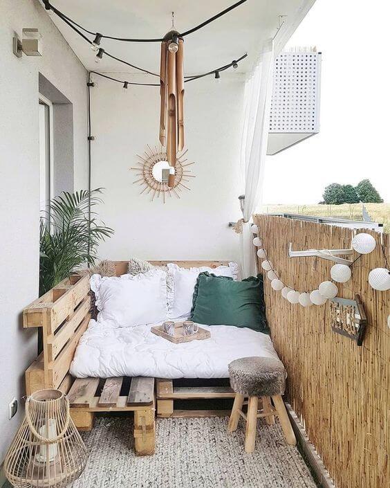 Sofá rustico para varanda