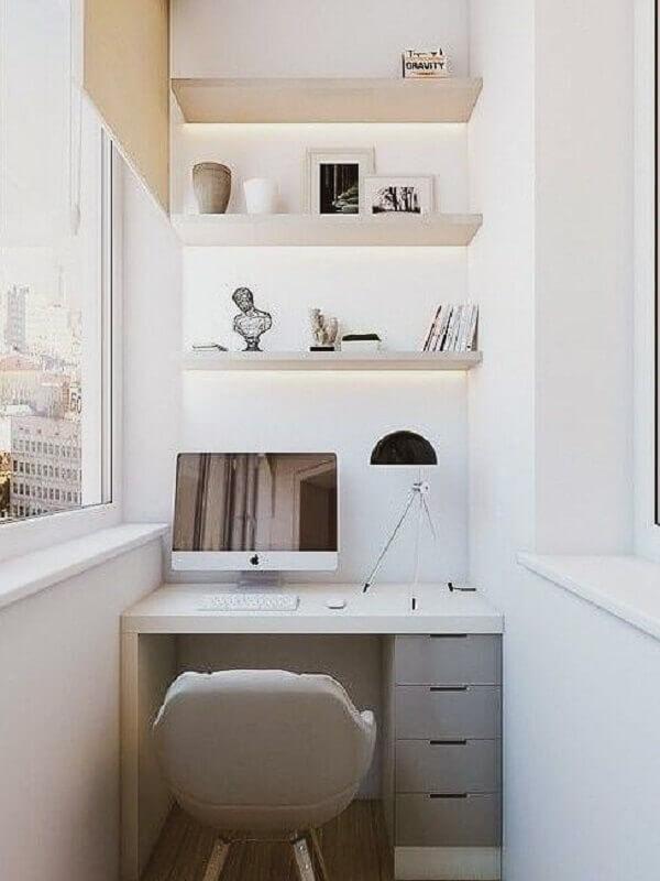 tendências de decoração para 2021 - decoração de home office pequeno Foto Pinterest