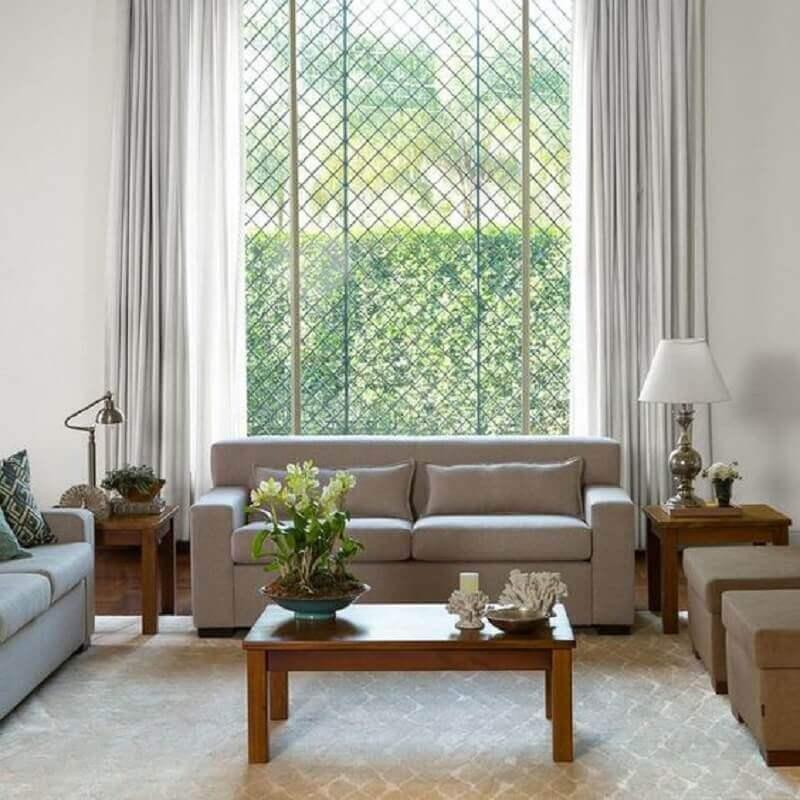 tendências de decoração para 2021 - decoração de sala de estar com janela grande Foto Pinterest