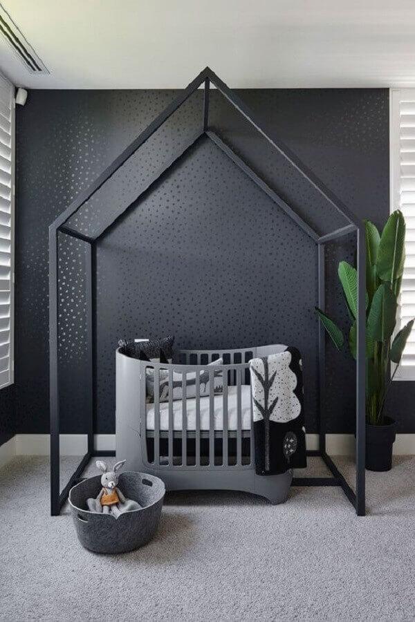 tons de cinza para decoração de quarto de bebê minimalista Foto Juju Papers