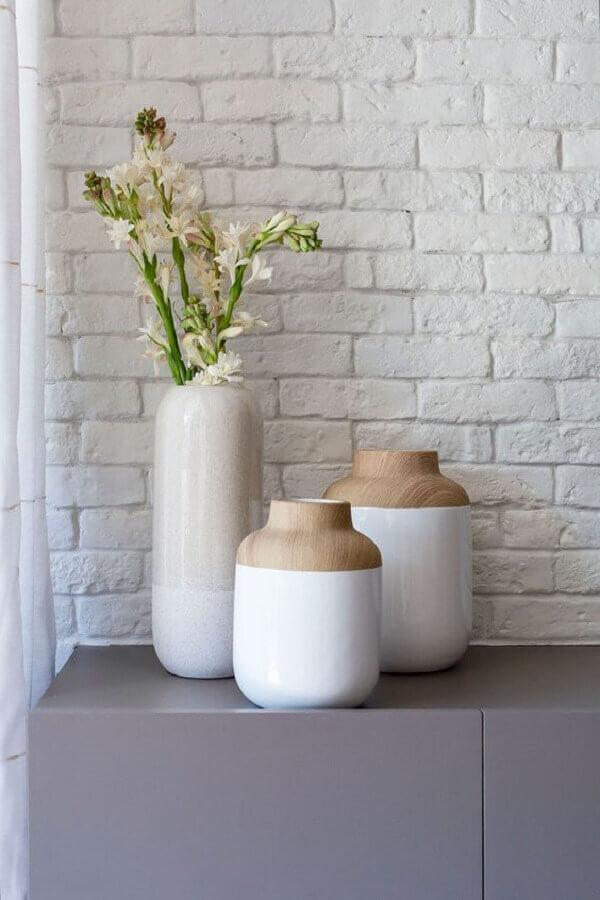 vasos decorativos para sala Foto Casa de Valentina