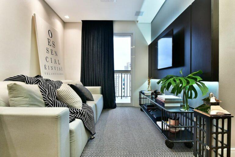 Confira dicas práticas de como projetar uma decoração preto e branco de arrasar