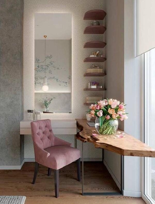 Defina o formato ideal do espelho de parede com led que irá ser fixado no ambiente