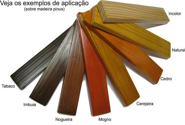 Existem diferentes tipos de cores de verniz para madeira