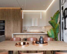 Explore as diferentes cores de madeira na sua decoração