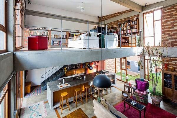 Modelo de casa sobrado com ambientes integrados