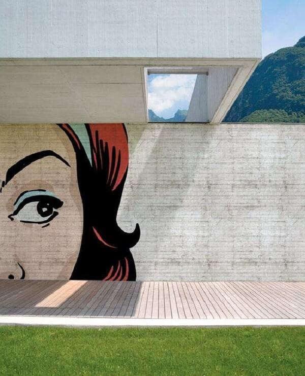 Os muros decorados com grafite mudam todo visual do ambiente