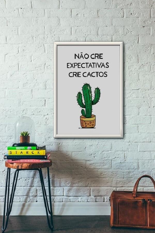 Placa de decoração fofa para decorar diferentes ambientes da casa