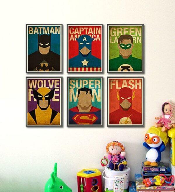 Placas decorativas infantil para decoração do dormitório
