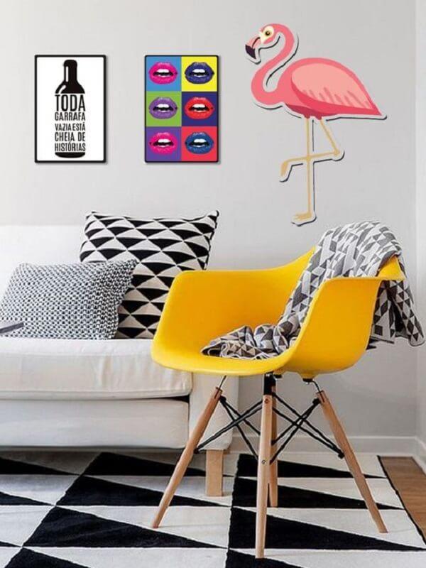 Placas decorativas para sala coloridas e divertidas