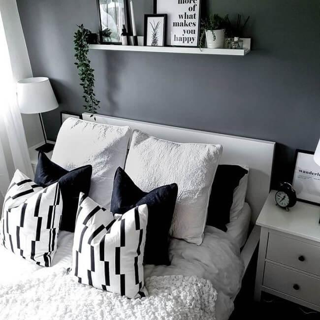 Tons de cinza também podem ser usados para trazer um equilíbrio entre os extremos preto e branco