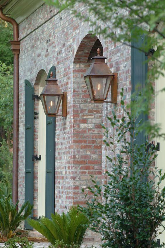 Arandela rústica estilo colonial