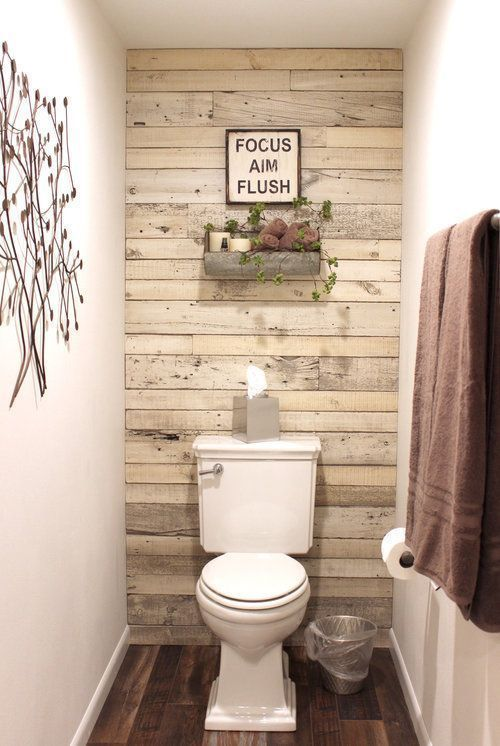 Banheiro amadeirado claro