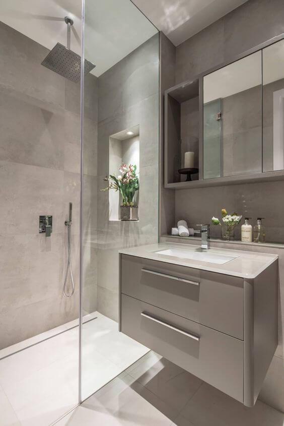 Banheiro sem janela decorado