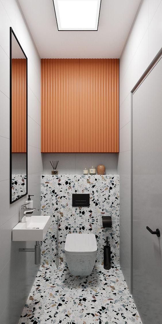 Banheiro sem janela pequeno