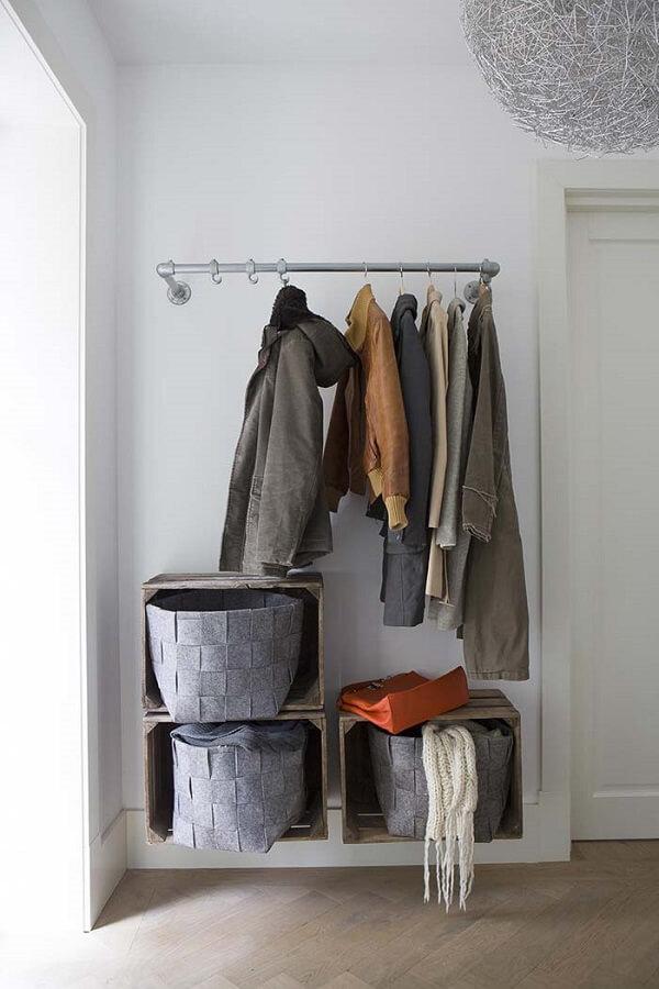Os nichos são ótimos para fazer um closet prático e organizado
