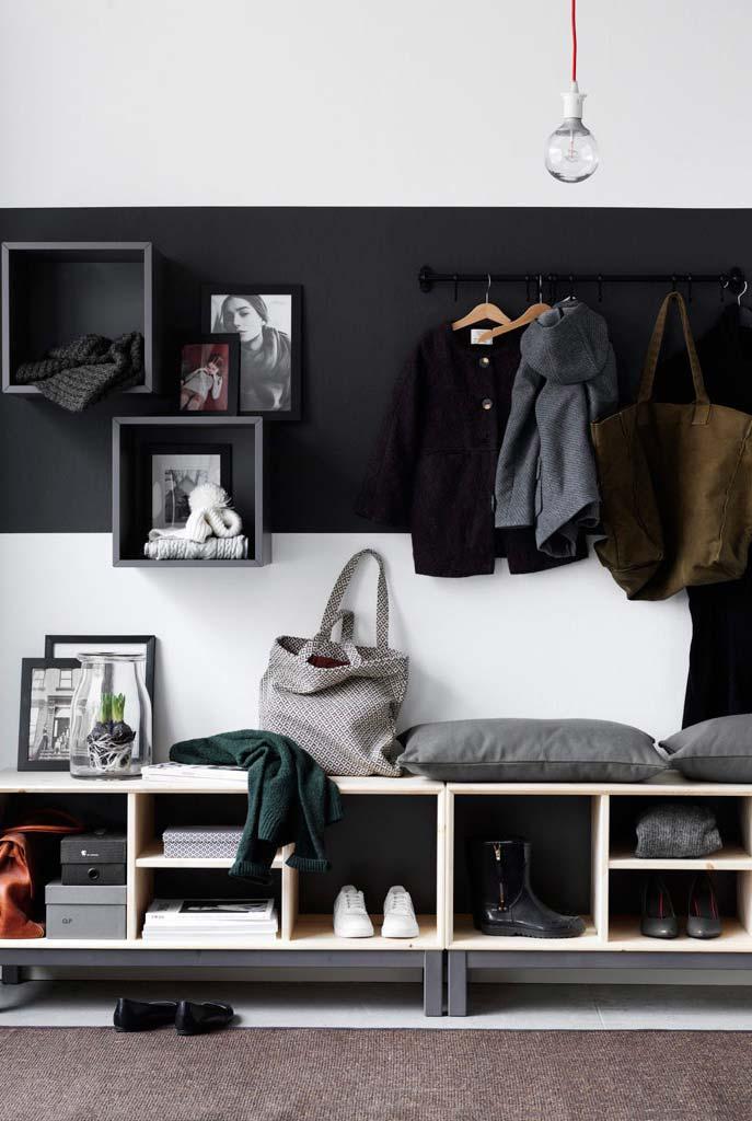 Use o nicho para fazer um lindo closet no quarto