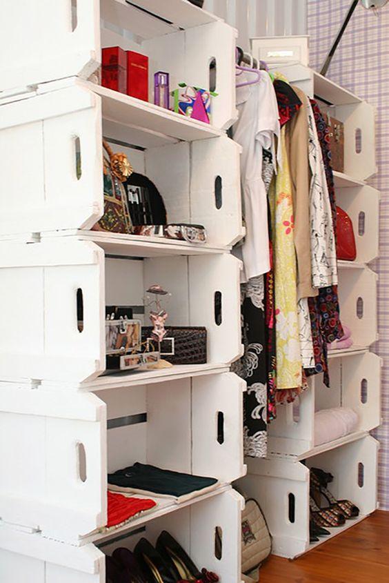 Veja como fazer um closet de caixote