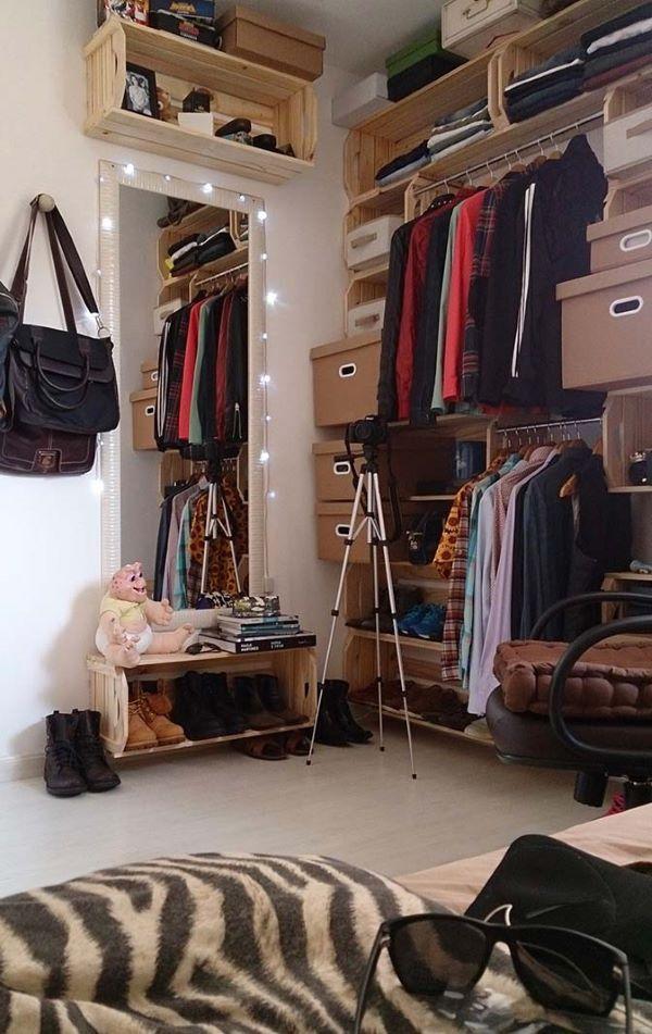 Aprenda como fazer um closet de caixote