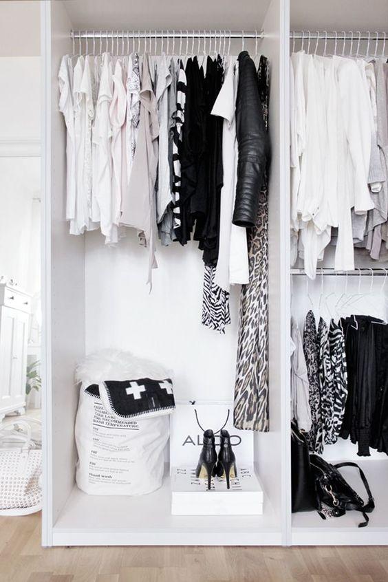 Decore seu quarto com o closet