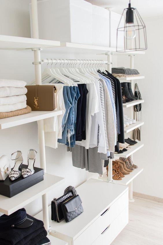 O closet precisa ser de acordo com as suas roupas