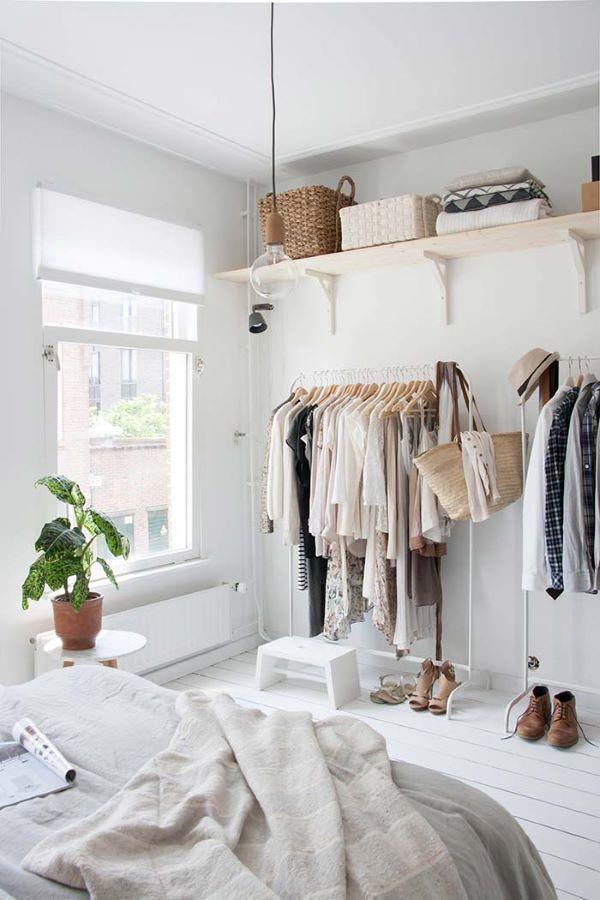O quarto com closet pode ser pequeno