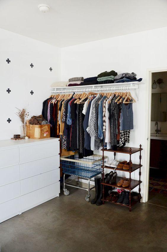 Reforme móveis antigos para seu closet perfeito