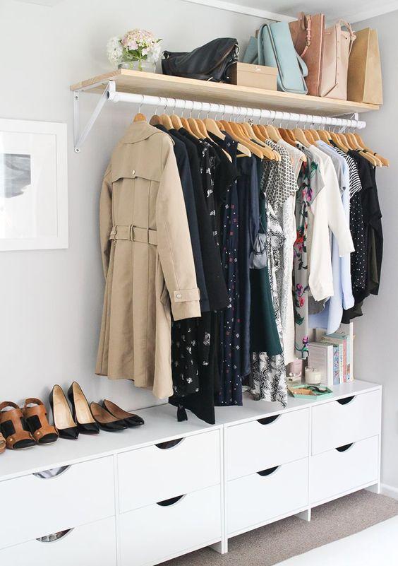 Como fazer um closet pequeno e simples