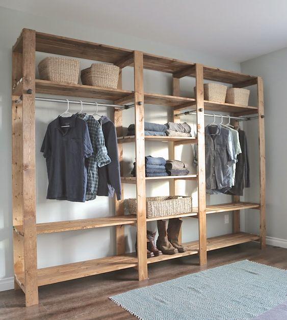 Como fazer um closet de madeira