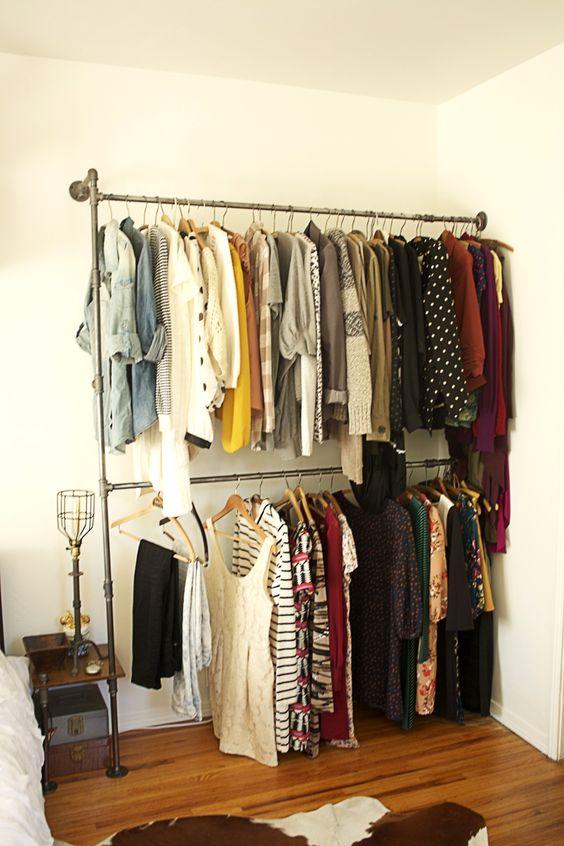 Aprenda como fazer um closet no quarto pequeno