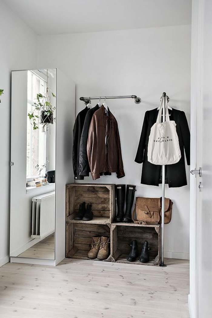 Como fazer um closet pequeno e barato