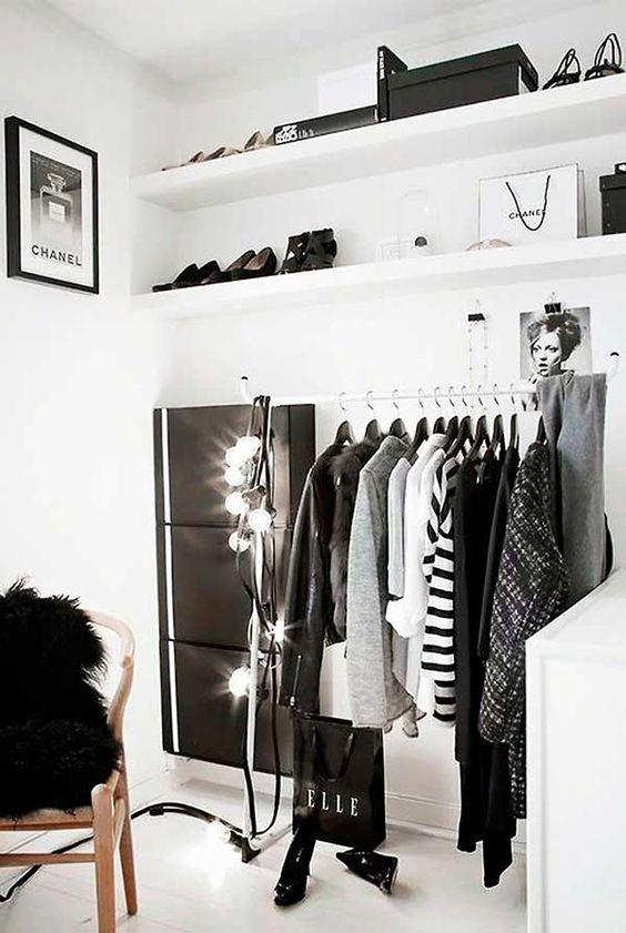 O closet branco é a melhor opção
